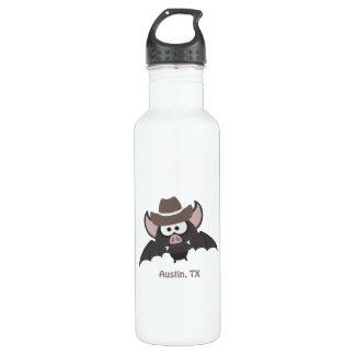 Austin, Texas - Cowboy bat 24oz Water Bottle
