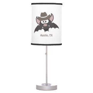 Austin, Texas - Cowboy bat Table Lamp