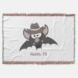 Austin, Texas - Cowboy bat Throw Blanket
