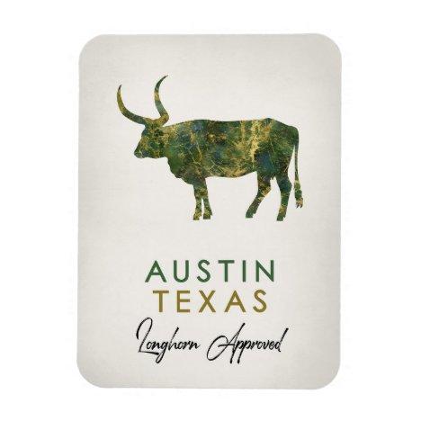 Austin Texas Dark Marble Magnet