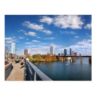 Austin Texas Downtown Lady Bird Lake Trail Bridge Postcard