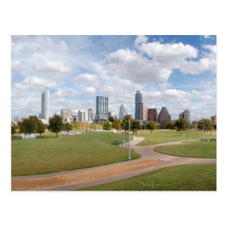 Austin, Texas Downtown Skyline from Butler Park Postcard
