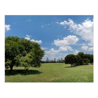 Austin Texas Downtown Skyline from Zilker Park Postcard