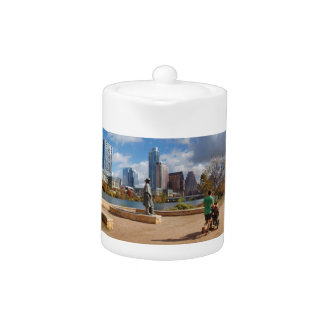 Austin Texas Downtown Skyline - Ladybird Lake Teapot