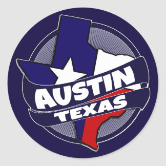Austin Texas flag burst stickers