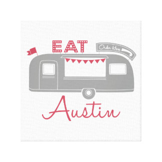 Austin Texas Food Truck Canvas Art