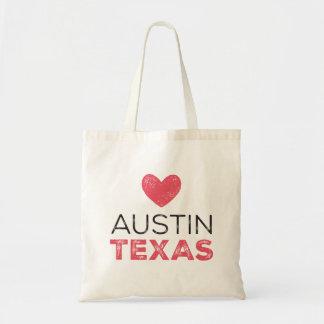 Austin Texas Heart Tote Budget Tote Bag