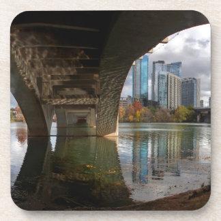 Austin Texas Ladybird Lake Trail Pedestrian Bridge Beverage Coaster