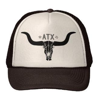 Austin Texas Long Horn Skull Trucker Hat