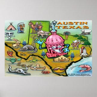 Austin TEXAS Map Poster