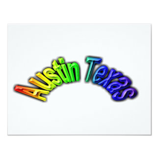 Austin Texas Popular Rainbow Design Card