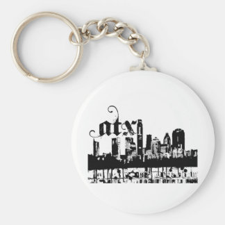 Austin Texas Put on For your City Basic Round Button Keychain