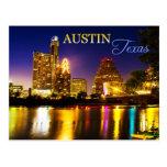 Austin, Texas Skyline at Night Postcard