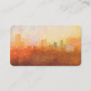 Austin skyline business cards zazzle austin texas skyline in the clouds business cards colourmoves