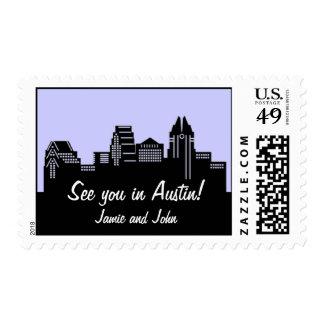 Austin Texas Skyline Postage Stamp