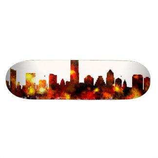 Austin Texas Skyline Skateboard