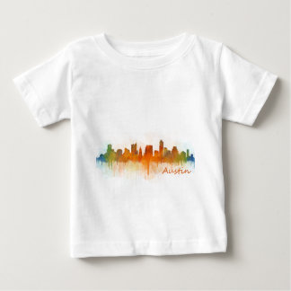 Austin Texas skyline Watercolor v3 Baby T-Shirt