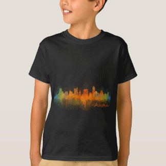 Austin Texas skyline Watercolor v3 T-Shirt