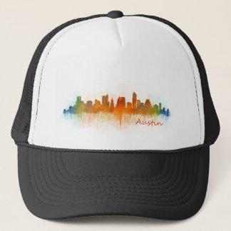 Austin Texas skyline Watercolor v3 Trucker Hat