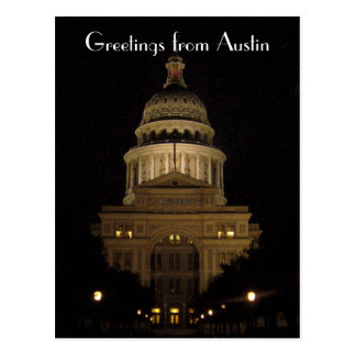 austin texas state capitol building postcard