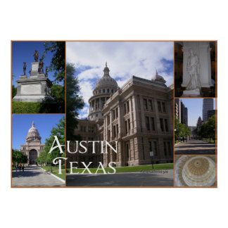 Austin, Texas-State Capitol Building Poster