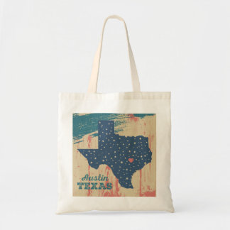 Austin Texas State Painting Tote Bag