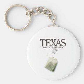 Austin Texas Tea Party Keychain
