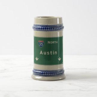 Austin Texas tx Interstate Highway Freeway Road : Beer Stein