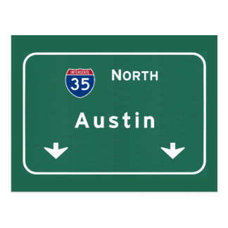 Austin Texas tx Interstate Highway Freeway Road : Postcard