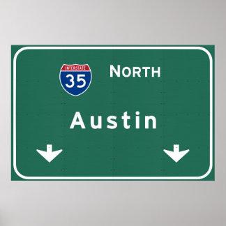Austin Texas tx Interstate Highway Freeway Road : Poster