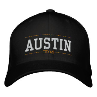 Austin Texas USA Embroidered Hats