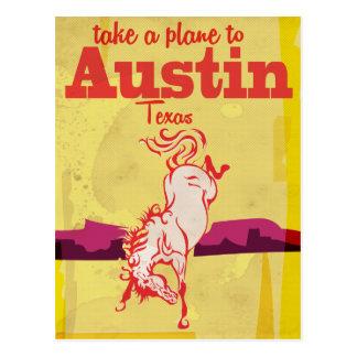 Austin Texas vintage travel poster Postcard