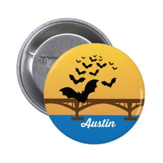 Austin Texas World Famous Bat Bridge Button