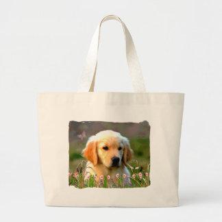 Austin The Golden Labrador Canvas Bags