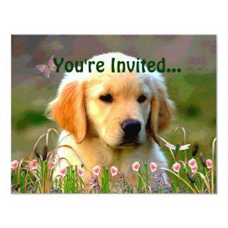 Austin The Golden Labrador 4.25x5.5 Paper Invitation Card