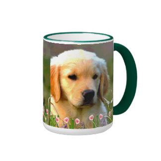 Austin The Golden Labrador Ringer Coffee Mug