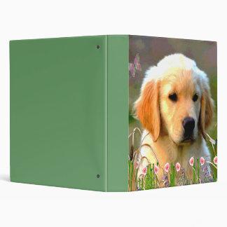 Austin The Golden Labrador Vinyl Binder