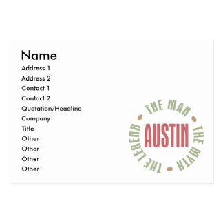 Austin the Man the Myth the Legend Large Business Card