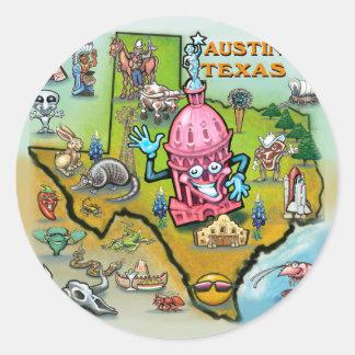 Austin TX Classic Round Sticker