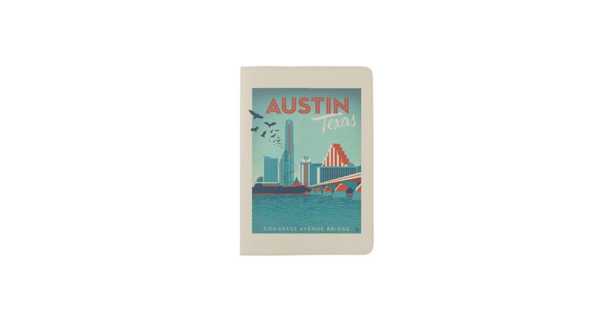 Austin Tx Congress Avenue Bridge Passport Holder Zazzle Com