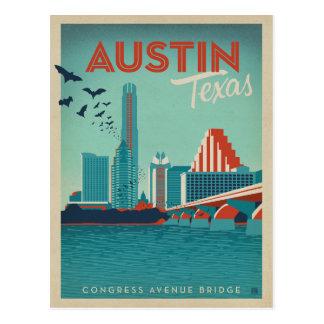 Austin, TX - puente de la avenida del congreso Tarjeta Postal