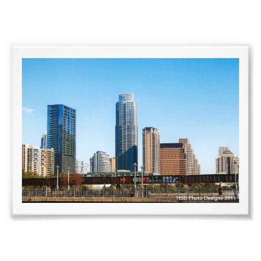 Austin, TX  Skyline Art Photo