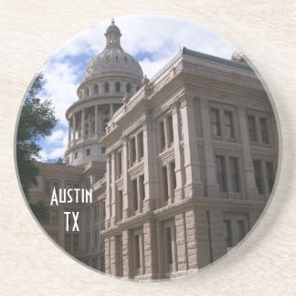 Austin TX-State Capitol Building Drink Coaster