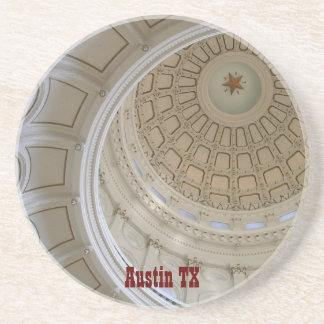 Austin TX-State Capitol Rotunda Sandstone Coaster