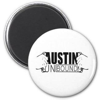 Austin Unbound - Logo 2 Inch Round Magnet