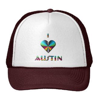 Austin -- Verde azul y Borgoña Gorro