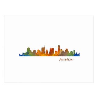 Austin watercolor Texas skyline v1 Postcard