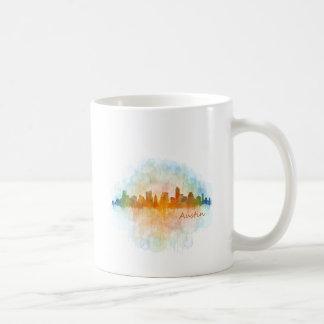 Austin watercolor Texas skyline v4 Coffee Mug