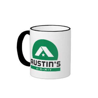 Austin's Army Black Ringer Logo Mug