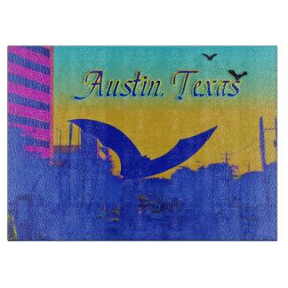 Austin's Bat Sculpture in Neon Cutting Board